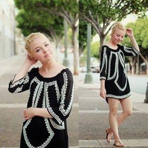 Zara Black Beaded Tunic